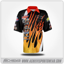 Custom sublimation breathable crew shirts racing team wear