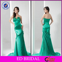 EDM001 Modest Beaded Strapless Trumpet Mermaid with Floor Length Teal Mother of the Bride Dresses