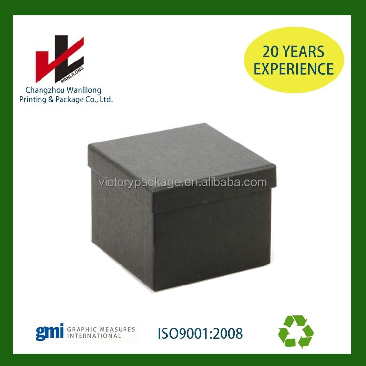 Custom design glossy box black packing sweet paper box packaging