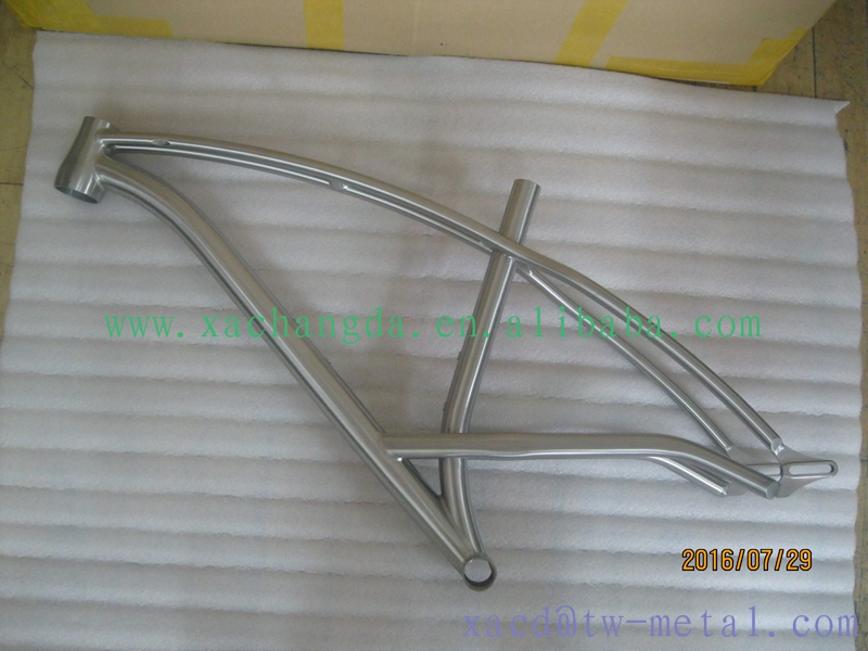 titanium mtb bike frame with double top tube and inner line routing custom titanium bike frame chinese titanium mtb bike frame