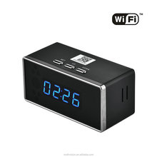 Super Night Vision 2.4G Wifi Remote Recording Video View Security Alarm Clock Camera Pinhole Invisible Desk Ip Camera