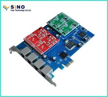 TDM400P/PCIE Asterisk card with 4 FXO/FXS port ,supports free pbx system Asterisk PCI-E card