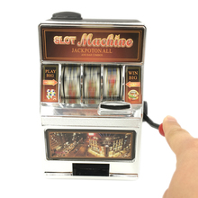 Bars and Sevens Slot Machine Money Box with Spinning Reels