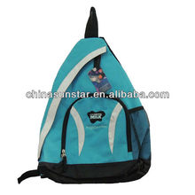 Fashion outdoor leisure sling backpack bags with velcro