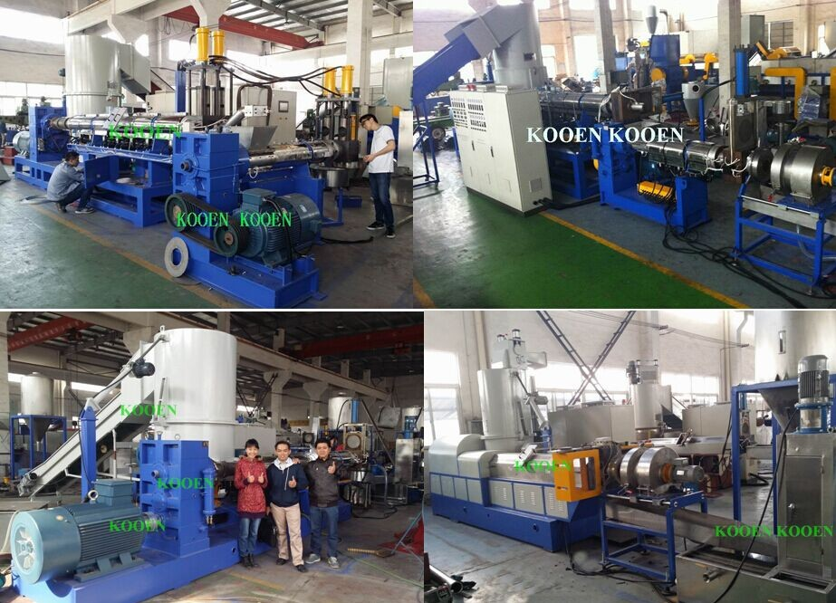 ppbags/film plastic washing/ pelletizing machine plant
