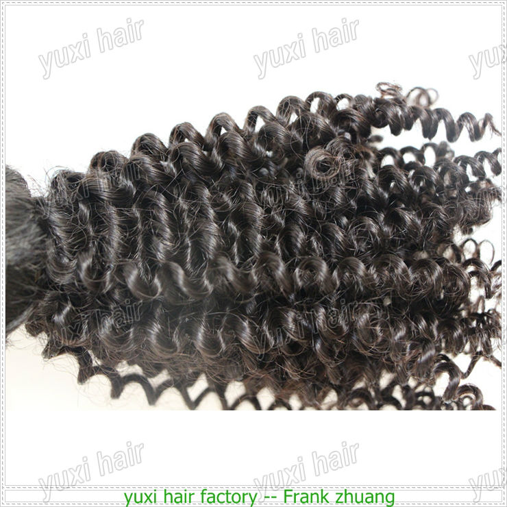 virgin brazilian kinky curly hair weave ,kinky coil curly