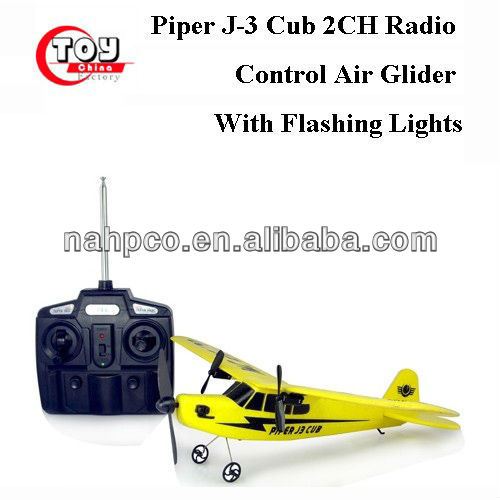 Piper J-3 Cub 2CH Radio Control Air Glider With Flashing Lights