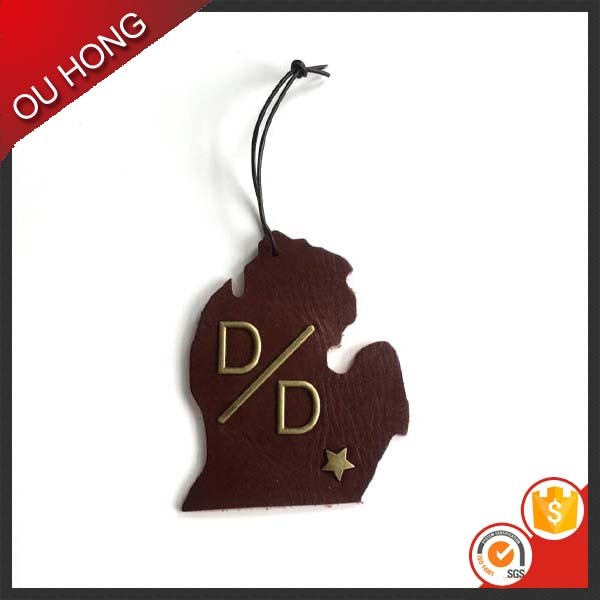 Custom Matal Leather Hangtag Fancy Jeans Hang Tag
