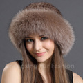 CX-C-209E Russia Style Women Winter Fashion Knitted Real Mink Fur Hat