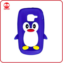 High Quality Soft Penguin Animal Rubber Skin Silicon Gel Design Mobile Phone Case for Nokia C3