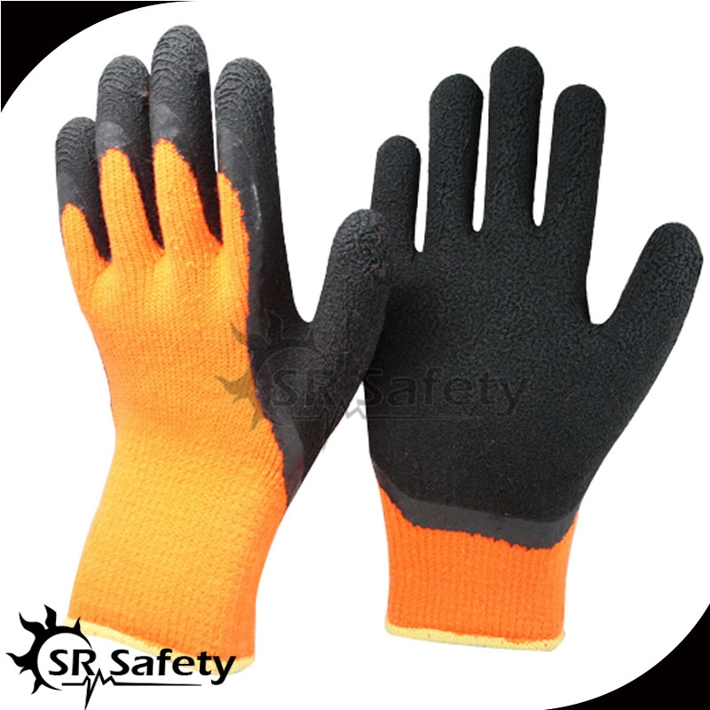 SRsafety 7 gauge Latex foam winter glove for cool enviroment safety working gloves