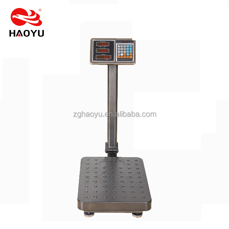 HY-T1-21 foldable pole electronic price computing platform scale 500kg with stainless steel indicator