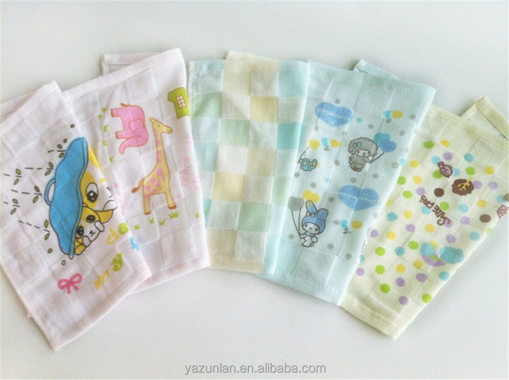 Wholesale children cotton handkerchief with cartoon printed