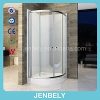 Arc Shower Enclosure With ABS Black Wall BL-S018BW
