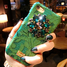 Luxury Gem Rhinestone Anti Gravity PC Phone Case For Iphone 6 6plus / 7 7plus