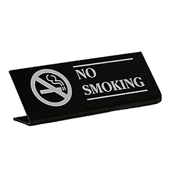 No smoking sign display stand acrylic coated mdf board