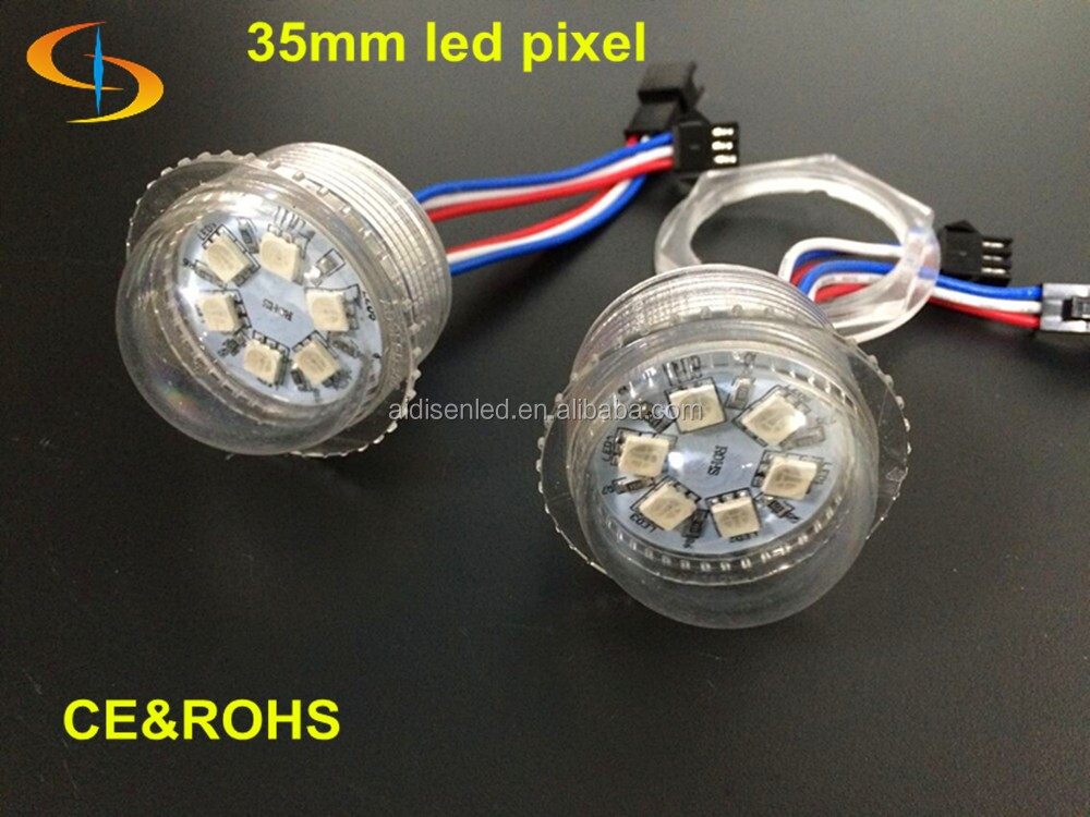 35mm led 6 smd 5050 Led Pixel lamp 6smd rgb addressable ucs2903 led ball 35mm dmx rgb-led -string light