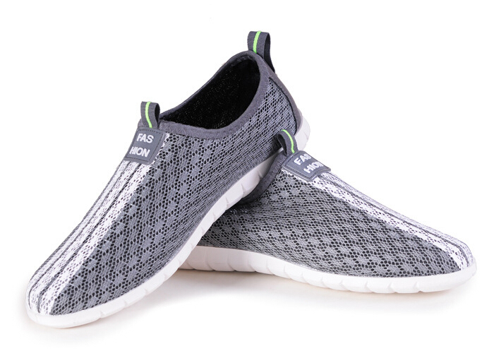 2015 New Hot Sale Casual Summer Outdoor Cut-Outs Soft Comfort Breathable Flats Mesh Fashion Sneakers Spring Men Shoes DS983