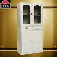 Steel cabinet with two drawers of glass door for office or school furniture IKEA furniture
