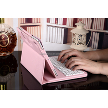Tablet PC Leather Smart Case Stand Folio Cover with Detachable Wireless Keyboard for Apple iPad 5 6 Air 2 Mini