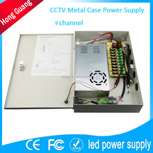 12v 350w led cctv power supply with 9 channel