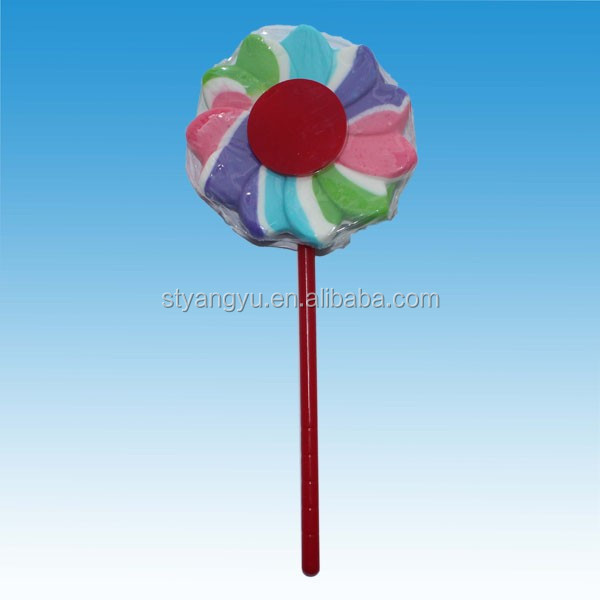 New Design!60g Flower Swirl Lollipop