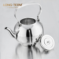 L22011614 large S/S 201 cat tea stainless steel whistling kettle