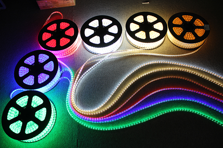 Colorful  RGB 220 volt SMD5050 60LED/m LED Strip  with Remote Controller