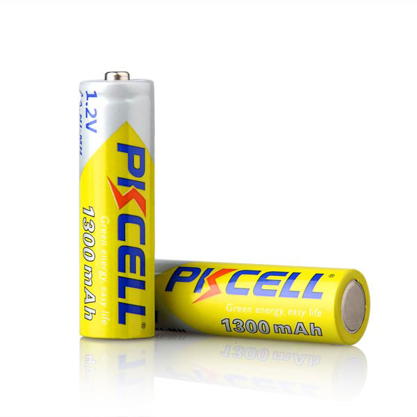 High Quality PKCELL NiMh AA rechargeable battery 1.2v 1300mah For Electric Toothbrush