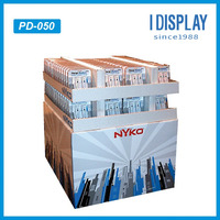 paper, corrugated Customized Cardboard Pallet Displays for Retail Stores