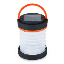 Camping LED Lantern USB&Solar Rechargeable Collapsible Light Mini Flashlight Torch Waterproof for