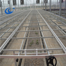 Steel greenhouse rolling benches extremely durable easily assembled for growing