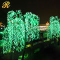Wholesale indoor Christmas festival decoration artificial white willow tree with LED for lakeside weeping willow tree lighting