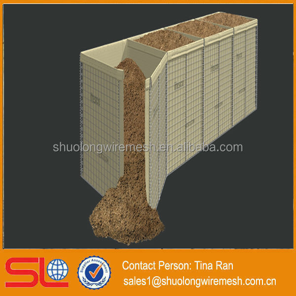 Hebei BV Certificated manufactory military sand wall Hesco Bastion Concertainer