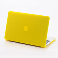 yellow matter case for macbook case/laptop sleeve/computer case