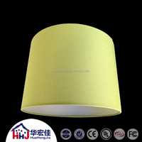 High quality green tc fabric pvc table lamp shade with wire frames for hotel project