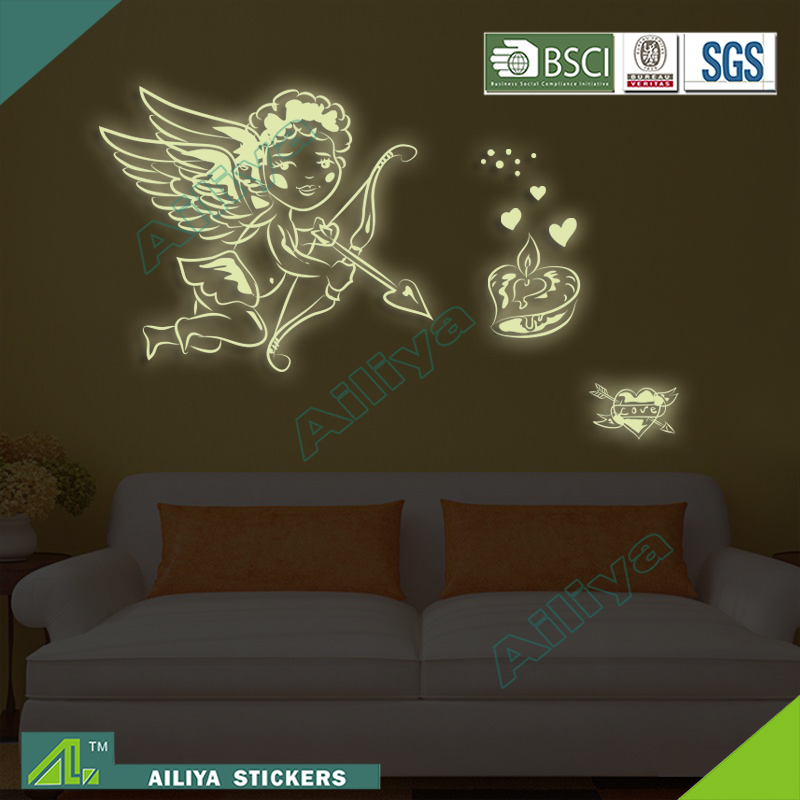 Top Selling Best Quality Beautiful Handmade vinyl glow in the dark body tattoo sticker