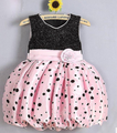 2016 New Summer baby girl polka dot dress princess dress lantern Puffy pettiskirt tutu
