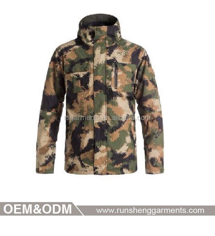 military style camouflage jacket men thick soft shell navy camouflage uniform