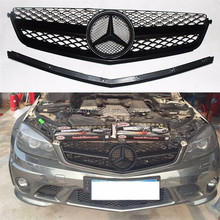01 front bumper grille AMG style for 2007-2011 Mercedes-Benz C63