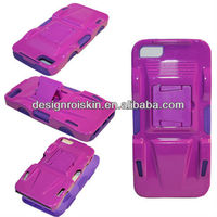 hybrid design combo clip holster for iphone 5 mass production case