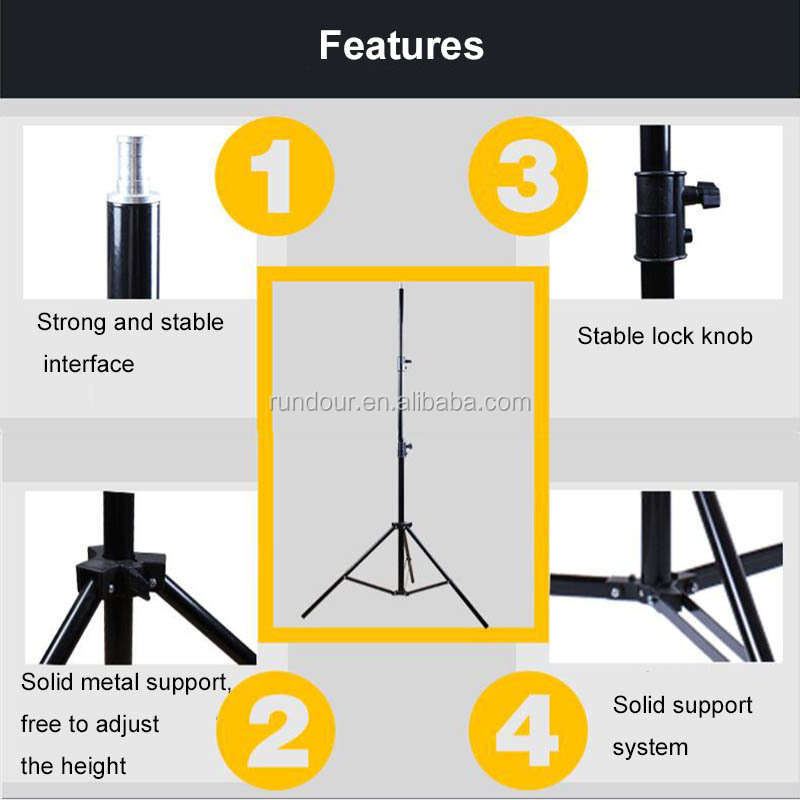 500k color temperature photography photo studio light set with Backdrop Stand Set