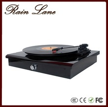 Rain Lane High End Piano Painting White Glossy Retro Record Player Vinyl Turntable