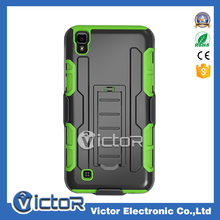 2017 Cellular smartphone Hard strong 3 in 1 selleys robot kickstand case for LG X POWER