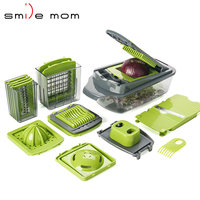 Smile mom 2019 Plastic Multifunction Quick Onion Mandoline Fruit Vegetable Cutter Food Slicer Dicer Chopper