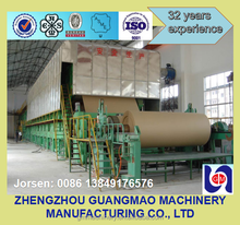 2100mm waste paper recycle machine to make kraft jumbo roll corrugated fourdrinier board paper making machine for sale