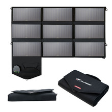 Allpowers Portable Flexilibity Foldable Solar Panel Charger 18V 60W USB/DC Dual Output Cellphone/Laptop Solar Chargers.