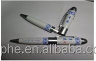 Real bulk capacity innovative beautiful gift Jingdezhen Blue & White Porcelain design pen usb flash drive, laser pen , white LED