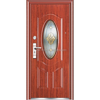 oval glass steel door
