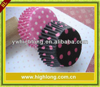 pink and black polka dots unique baking cups